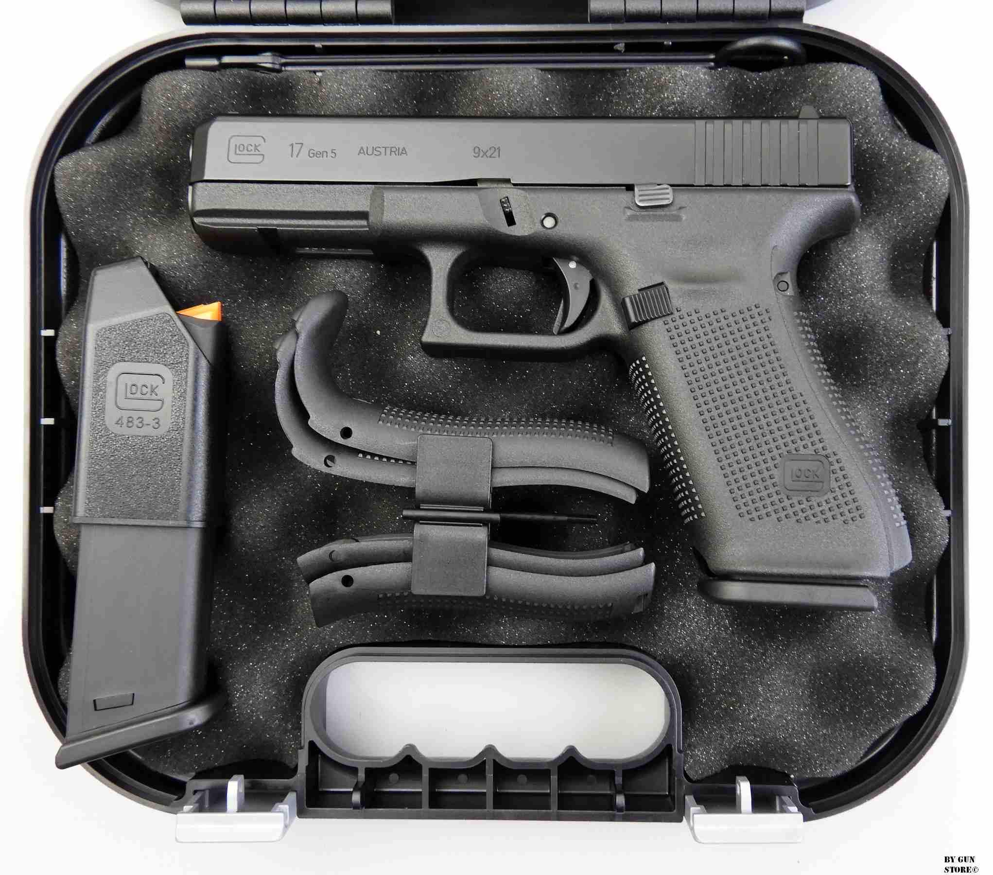 Gun Store Bunker Ego Sum Bellum Pistola Glock Mod 17 Gen V Cal